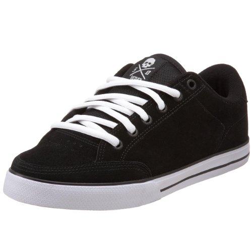 C1RCA Men's 50 Skateboarding Shoe,Black/White/Gum,7 M US (Shoes Skate Al50)