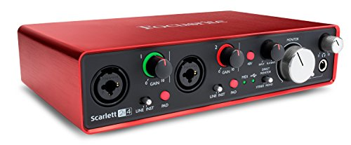 Focusrite Scarlett 2i4 (2nd Gen) USB Audio Interface with Pro Tools | First