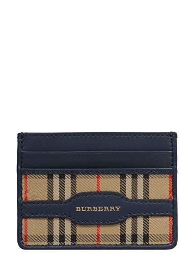 - Burberry Men's Sandon Camel Check Leather Trim Card Case