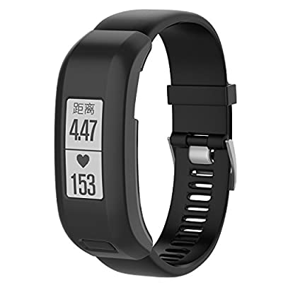 I-SMILE Garmin Vivosmart HR Bands, Replacement Bands for Gramin Vivosmart HR, Pin Removal Tools include(No Tracker, Replacement Bands Only) (Pack of 10: protect case)