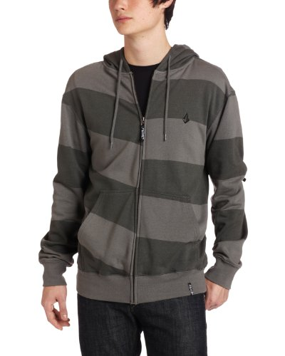 Volcom Men's Getta Basic Hoddie Sweatshirt, Gray Vintage Heather, Large