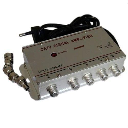Amplificateur Signal Antenne avec 4 Sorties TV numé rique terrestre Dé codeur FAST WORLD SHOPPING