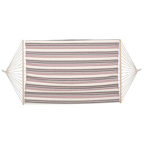 Christopher Knight Home 299963 Cayman Fabric Hammock, White/Dark Blue Red Stripe ()