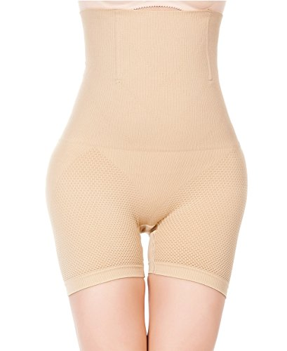 LYZ Womens Shapewear Bodysuit High Waist Seamless Strapless Tummy Control Thigh Slimmer Shorts