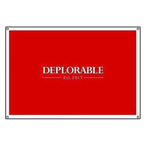CafePress Deplorable Est 2017 Vinyl Banner, 44