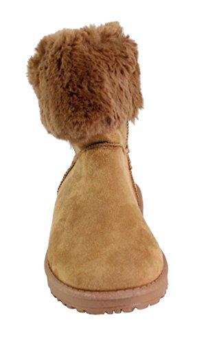 Style Daim Shoes Fourrée Bottine By Femme Camel 7Bpqtx