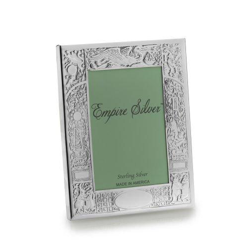 The Original Fine .925 Sterling Silver BIRTH RECORD Frame by Empire Silver - 4x6
