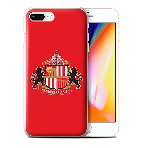Officiel Sunderland AFC Coque / Etui pour Apple iPhone 8 Plus / Rouge Design / SAFC Crête Club Football Collection
