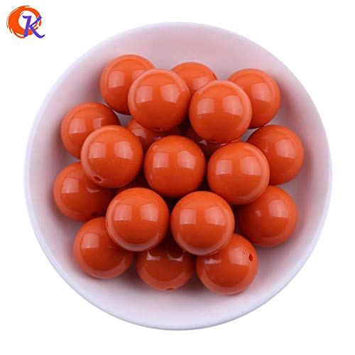 (Calvas New Color 20MM 100pcs Winter Color Dark Coral Chunky Bubblegum Acrylic Solid Beads Chunky Beads for Jewelry CDWB-517541)