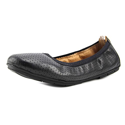 Clarks Women's Un Tract Ballet Flat,Black Cow Full Grain Leather,US 11 N