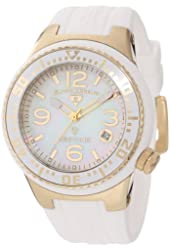 Swiss Legend Women's 11044P-YG-02MOP Neptune White Mother-Of-Pearl Dial White Silicone Watch