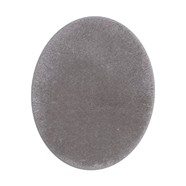 STAINMASTER TruSoft Luxurious Bath Toilet Lid Rug, Standard Lid Cobble Stone Grey
