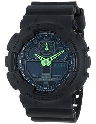 Casio G-Shock Black Dial Resin Quartz Mens Watch GA100C-1A3