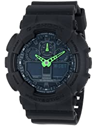 Casio G-Shock Black Dial Resin Quartz Men's Watch GA100C-1A3