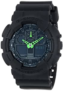 Casio G-Shock Black Dial Resin Quartz Men's Watch GA100C-1A3