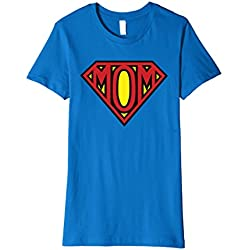 Women's Super Mom Tee Shirt XL Royal Blue