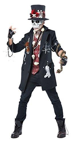 California Costumes Men's Voodoo Dude, Black/Burgundy, Medium -