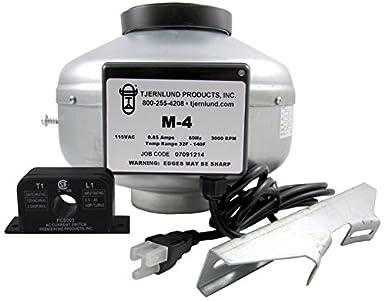 Tjernlund m-49504351 in-line ventilador con conducto de corriente sensor interruptor secador Booster
