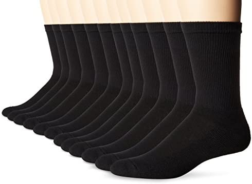 Hanes mens Freshiq X-temp Active Cool Crew Socks, 12-pack