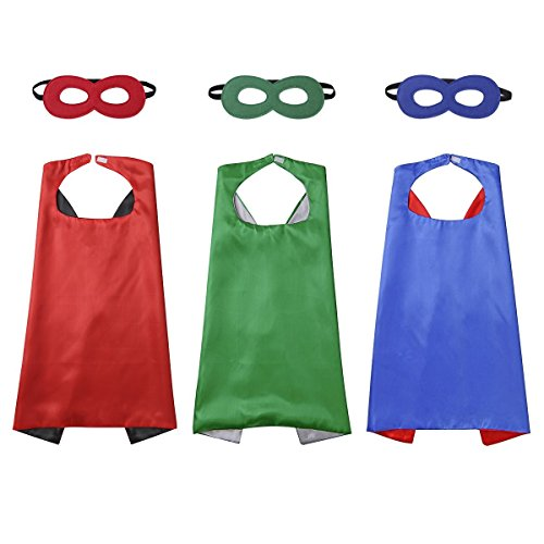 Diffly Kids Fancy Dress Superhero Cape with Mask for Boys and Girls -3 -