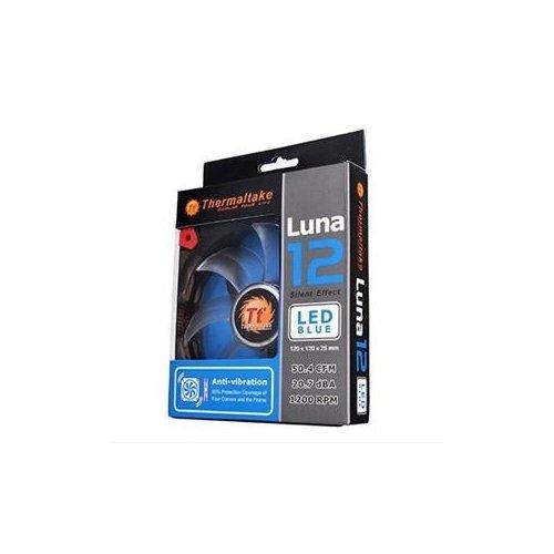 THERMALTAKE (2 PACK) Luna 12 Blue LED Silent Fan / PCK#2XCL-F009-PL12BU-A /