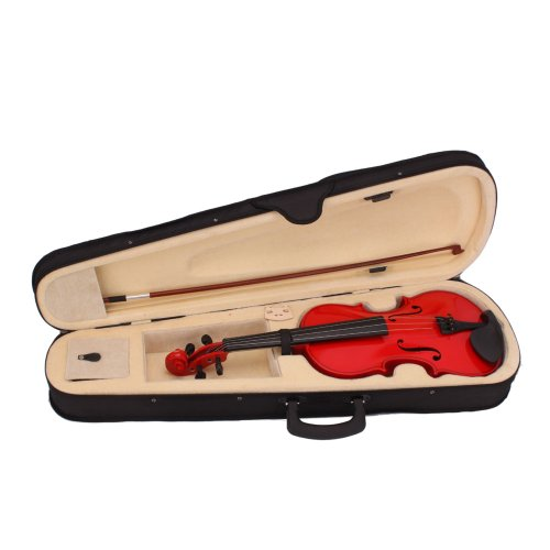 Lovinland 4/4 Acoustic Violin Red Beginner Violin Full Size with Case Bow Rosin by Lovinland (Image #1)
