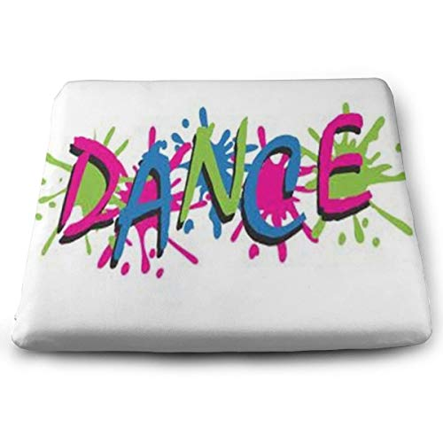 Ladninag Seat Cushion Color Graffiti Dance Chair Cushion Offices Butt Chair Pads for ()