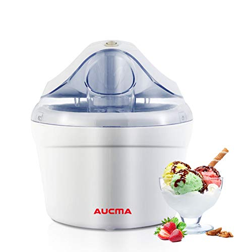 Aucma Ice Cream Machine, 1.5 Quart Electric Ice Cream Maker Frozen Yogurt Sorbet Machine for Home Kids, FDA Approved (HICM-115)