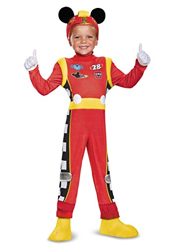 Racer Halloween Costumes (Disney Mickey Mouse Roadster Racer Deluxe Toddler Boys')