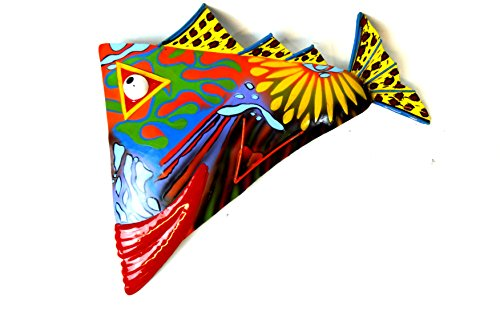Big Red Lips (ABSTRACT COLORFUL BEAUTIFUL UNIQUE NAUTICAL METAL FISH WALL ART BIG RED)