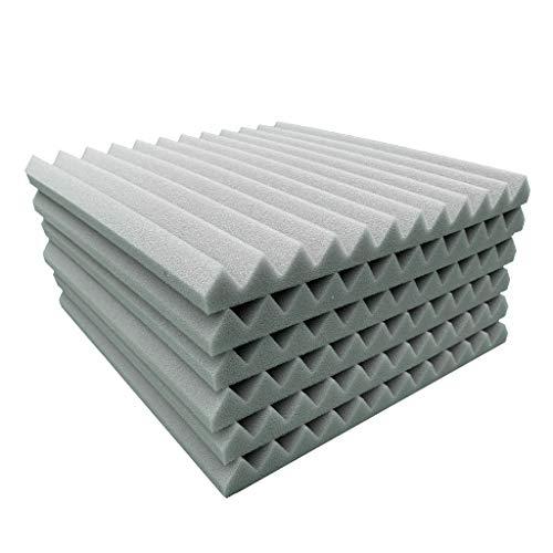 (Clearance Sale!DEESEE(TM)6Pcs Acoustic Foam Panel Sound Stop Absorption Sponge Studio KTV Soundproof (Gray))