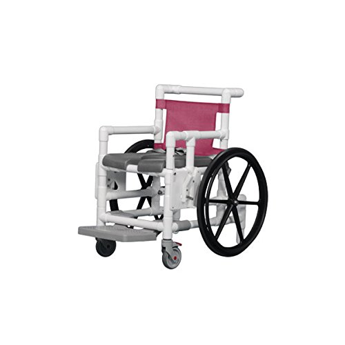 Shower Access Chair W/Dlx Open Front Soft Seat Gray Wineberry