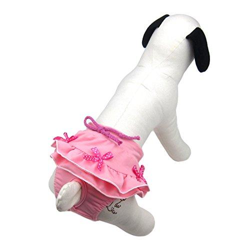 Alfie Pet - Rita Diaper Dog Sanitary Pantie - Color: Pink, Size: - Diaper Poodle Pink