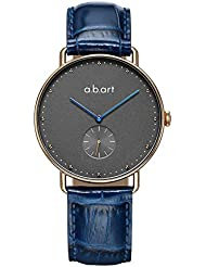 a.b.art Her Watch FR36-004-5L Blue Hand Dotted Grey Dial Crystal Lady Watches (Blue)