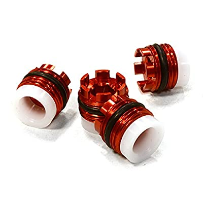 Integy RC Model Hop-ups C26237RED Replacement Pivot Ball Caps (4) for T4114