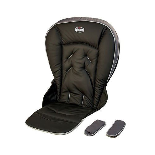 Chicco Polly 13 Highchair Replacement Seat Cushion and Harness Shoulder Pads - Black