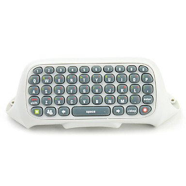 Mekela Wireless Text Messenger Game Gaming Controller Keyboard Chatpad Keypad For Xbox 360 (White) Xbox 360 Keyboard
