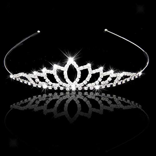 New Shiny Rhinestone Diamante Woman Bridal Crown Tiara Headband Wedding Jewelry (Item - #8)
