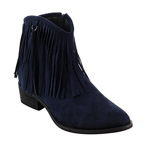 navy blue ankle boots - 6