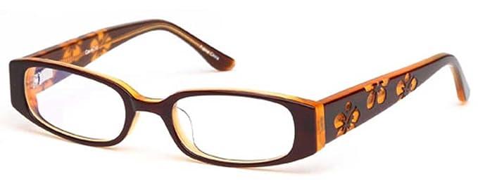 Amazon.com: Childrens Flower Girl Glasses Frames Brown Kids ...