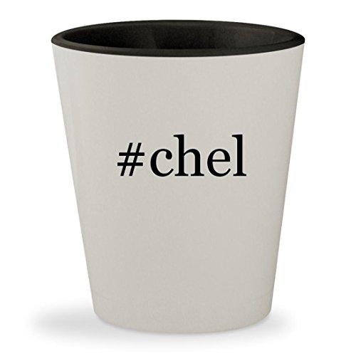 Ix Chel Costume (#chel - Hashtag White Outer & Black Inner Ceramic 1.5oz Shot Glass)