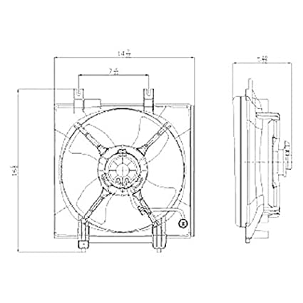C Condenser Fan Assembly Oe Quality Replacement