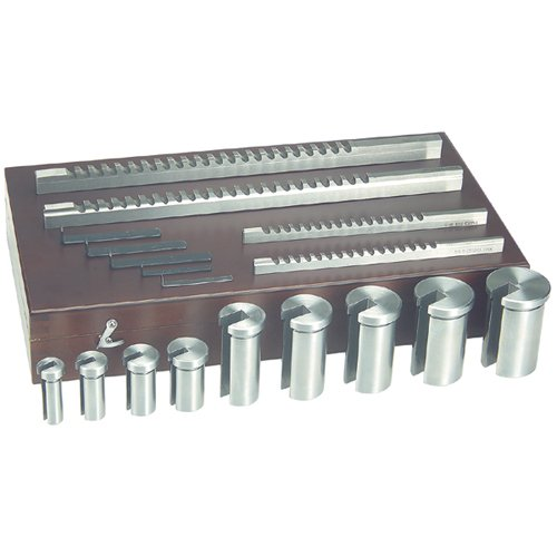 TTC Keyway Broach Set - Number Of Combinations: 13 SIZE : 4mm-B, 5mm-B, 6mm-C and8mm-C Bushing Diameter : 12mm-B, 14mm-B,16mm-B, 18mm-B, 20mm-C, 22mm-C,24mm Number Of Broaches: 4 Number Of Bushings: 9 Measurement Type: Metric