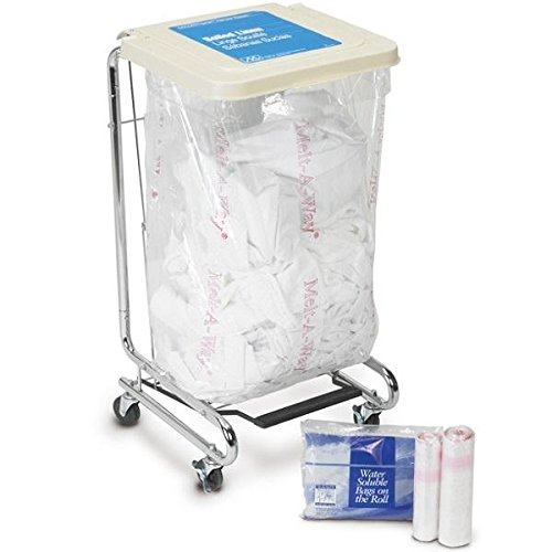 Medegen Medical Products 547-A Clear Polyvinyl Alcohol Film Water Soluble Laundry Bags, Standard Duty, 28'' x 39'' Size, 0.8 mil Gauge (Pack of 100) by Medegen Medical Products