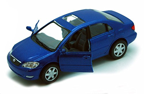Kinsmart Toyota Corolla, Blue 5099D - 1/36 scale Diecast Model Toy Car, but NO BOX