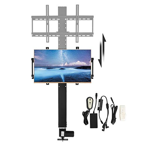 Happybuy Motorized TV Lift Flat TV 1000mm TV Lift Mechanism Auto Lifting Adjustable Height with Wireless RF Remote Controller for Plasma LCD LED TV and Monitors (for 28