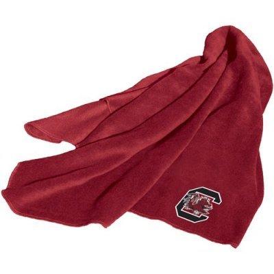 NCAA South Carolina Fighting Gamecocks Fleece Throw Blanket (Gamecocks Carolina South Fleece Throw)