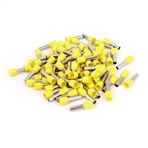 80 Pcs E6012 Yellow Tublar Plastic Insulated Cable Wire Terminals termine