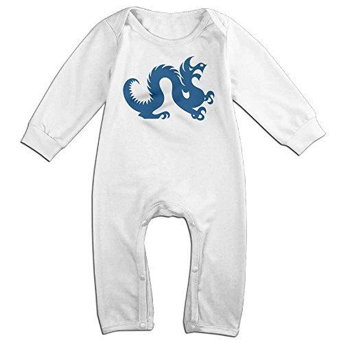 Monsters University Costumes Diy (Dara Drexel Dragon Logo University Newborn Babys Long Sleeve Baby Climbing Clothes White 6 M)