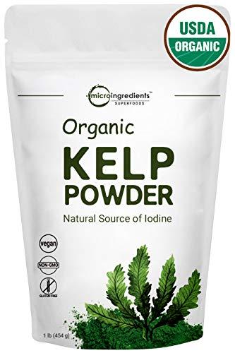 Sustainably U.S Grown, Organic Kelp Powder,1 Pound, Fresh Ascophyllum Nodosum, Perfect for Body Wraps, Scrubs & Facials, Non-GMO and Vegan Friendly